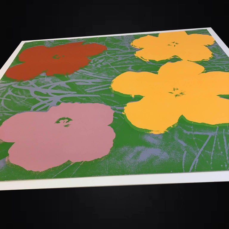 Flowers is a screenprint from one of Andy Warhol's most popular series. It is well known and a favorite among Andy Warhol collectors. Warhol got many of his source images by appropriating them from other artists, or from advertisements and