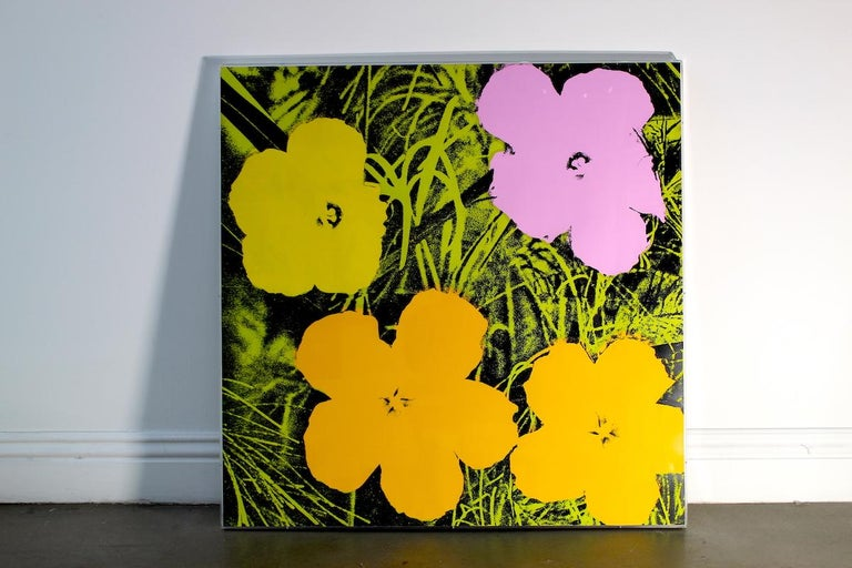 """FLOWERS 67  Almost six years after his sellout show at the Leo Castelli Gallery where he introduced the world to his Flowers series, Warhol released a portfolio of ten screenprints simply entitled """"Flowers."""" The portfolio takes the photograph by"""