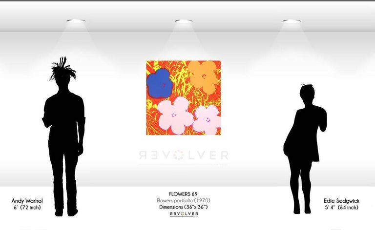 Flowers (FS II.69) - Orange Still-Life Print by Andy Warhol