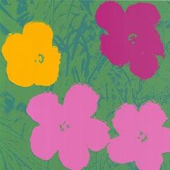 Flowers (Yellow, Pink, Purple Hues - Warhol, Pop Art)