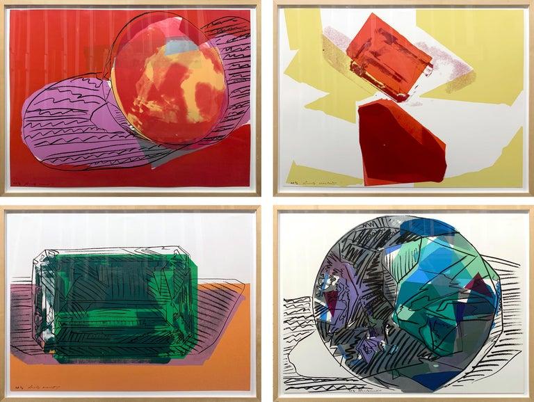 Gems (set of 4) - Print by Andy Warhol