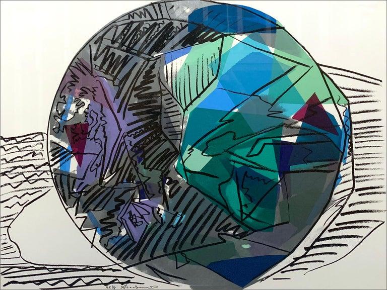 Gems (set of 4) - Beige Figurative Print by Andy Warhol