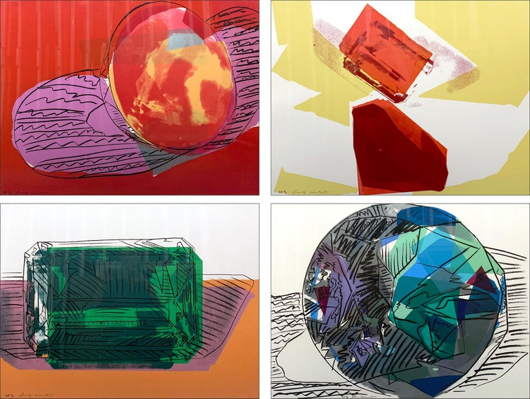 Andy Warhol Figurative Print - Gems (set of 4)