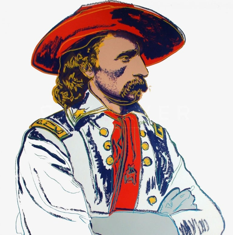Andy Warhol Portrait Print - General Custer (FS II.379)