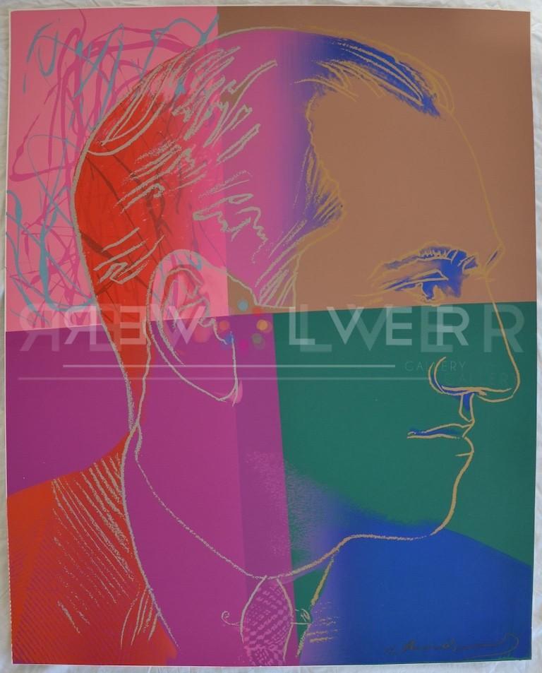 George Gershwin (FS IIB.231)  - Pink Portrait Print by Andy Warhol