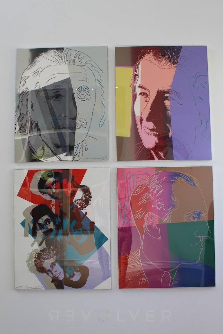 """WARHOL GEORGE GERSHWIN 231   In 1980, a publisher in Tel Aviv asked Warhol to create a portfolio of the ten most important Jewish figures of all time. Warhol created the series and fondly called them his """"Jewish Geniuses."""" Warhol selected Martin"""