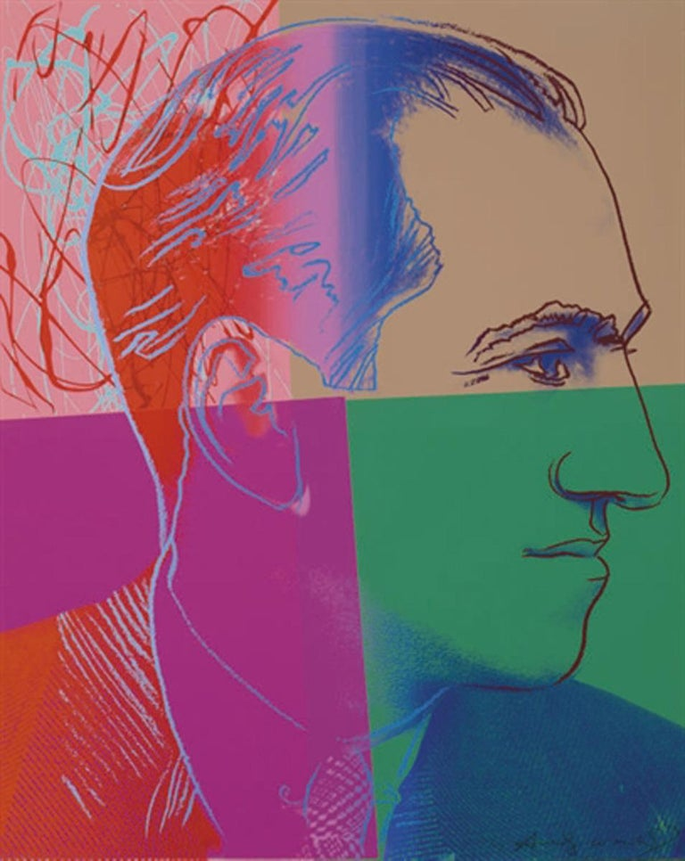 Andy Warhol Portrait Print - George Gershwin (FS IIB.231)