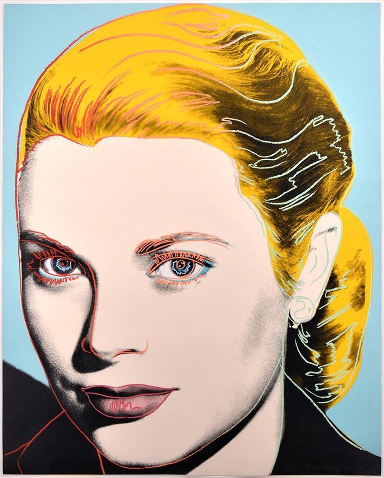 Andy Warhol Portrait Print - Grace Kelly, 1984