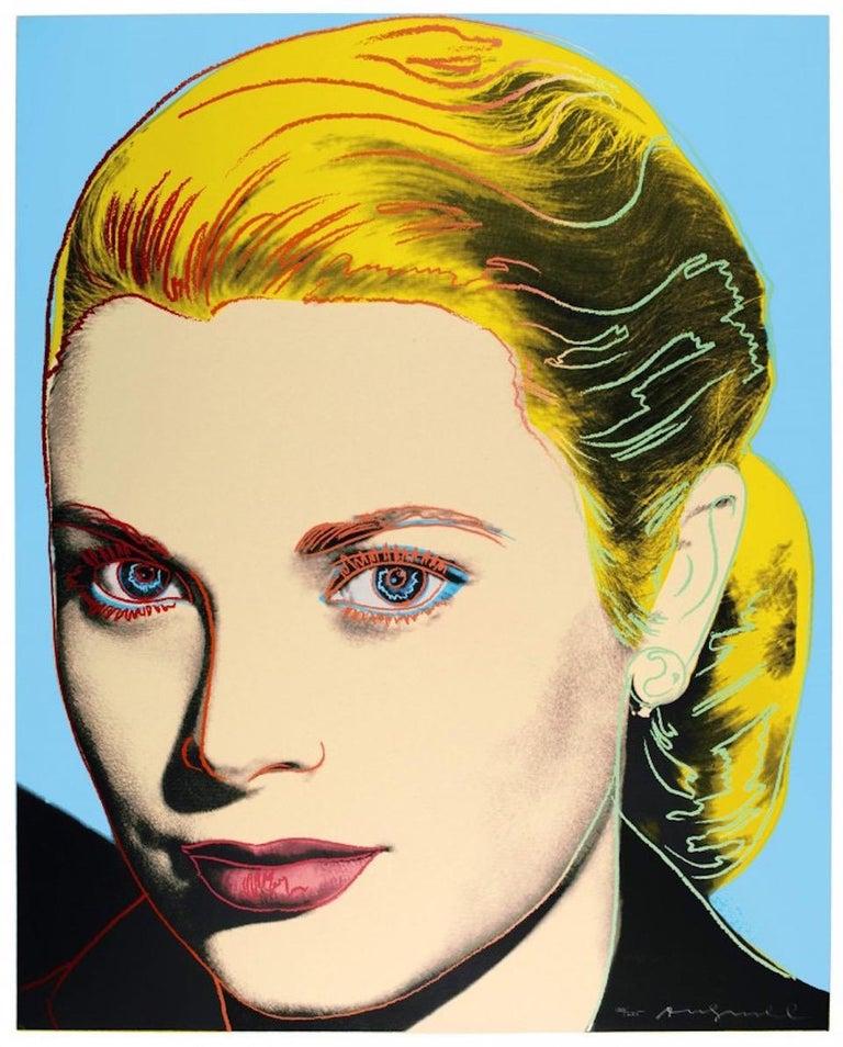 Andy Warhol Portrait Print - Grace Kelly (FS II.305)