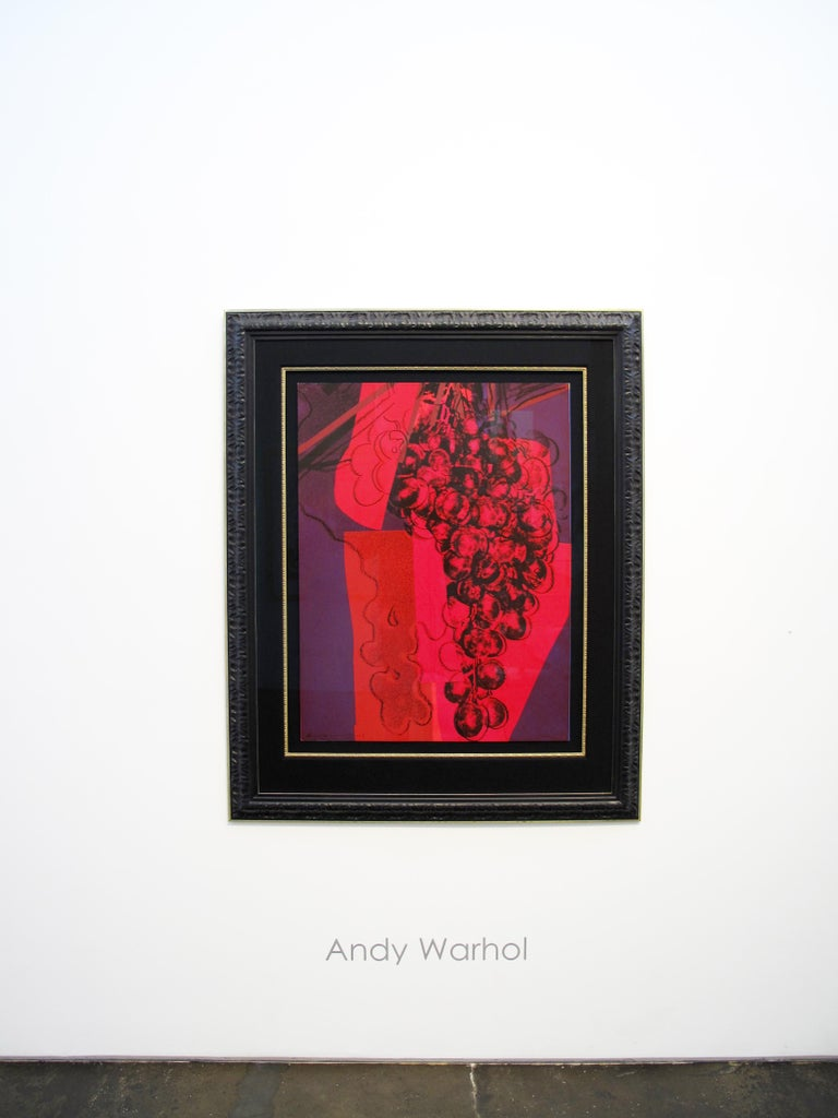 Grapes - Pop Art Print by Andy Warhol