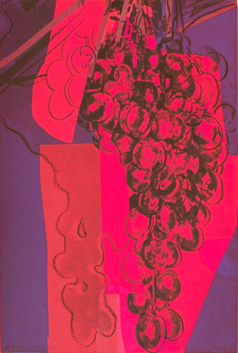 Andy Warhol Still-Life Print - Grapes