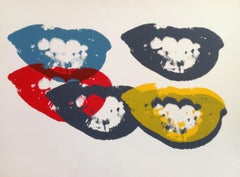 I Love Your Kiss Forever -  Screen After Andy Warhol - 2013