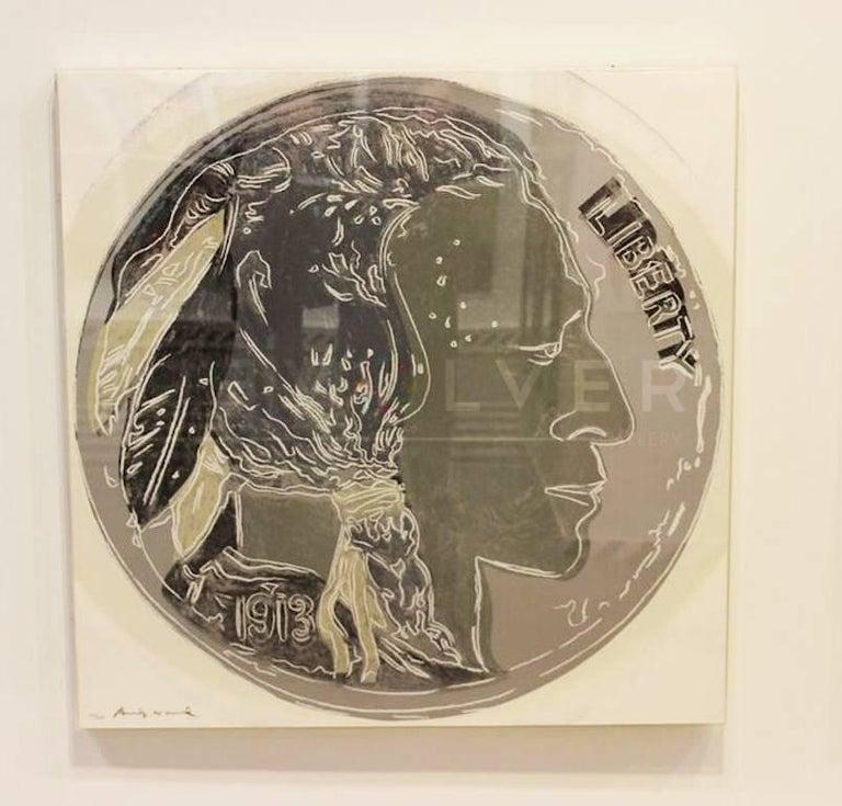 Indian Head Nickel (FS II.385)  - Print by Andy Warhol