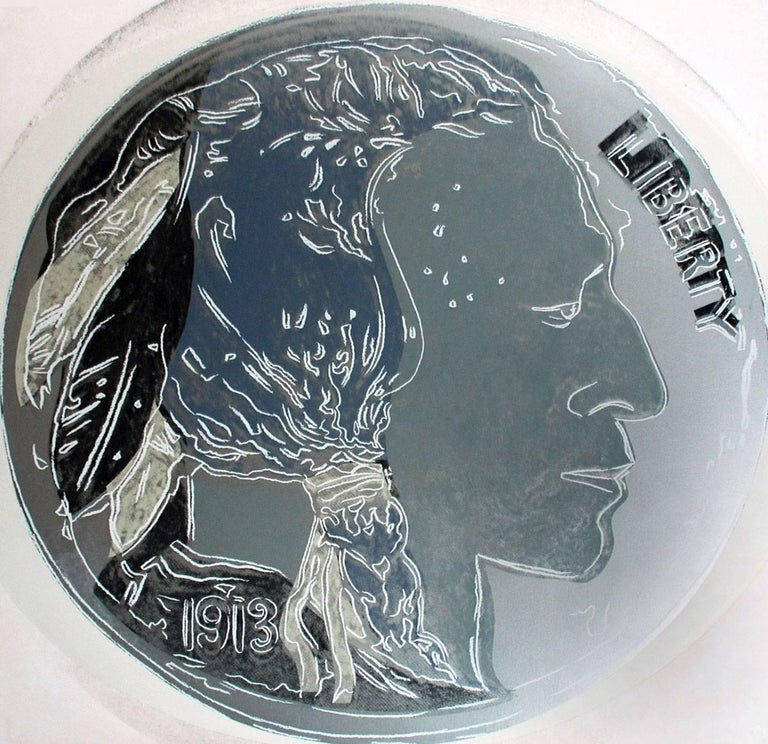 Andy Warhol Print - Indian Head Nickel (FS II.385)