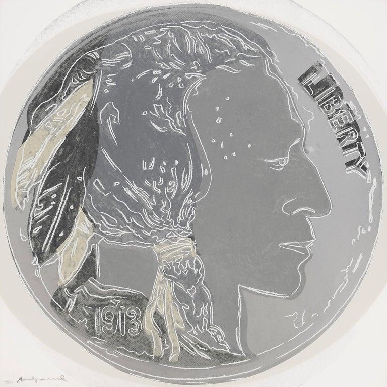 Andy Warhol Figurative Print - INDIAN HEAD NICKEL FS II.385