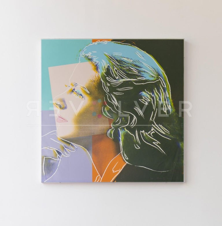 INGRID BERGMAN (FS II313)  The Ingrid Bergman series is made up of three types of screen prints of the Academy Award winning actress in 1983. The source images used for these portrait pieces include movie still from her role in Casablanca ('With