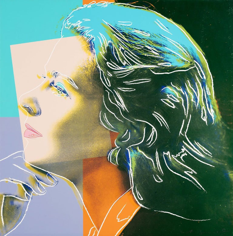 Andy Warhol Portrait Print -  Ingrid Bergman, Herself (FS II.313)