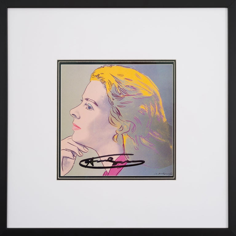 Ingrid Bergman Herself - original modern Warhol lithograph pop art signed  - Pop Art Print by Andy Warhol