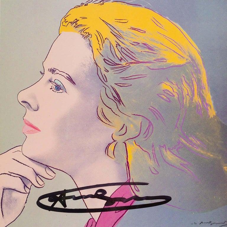 Ingrid Bergman Herself - original modern Warhol lithograph pop art signed  - Print by Andy Warhol