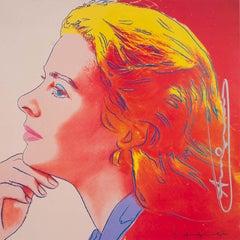 Ingrid Bergman Herself - original modern Warhol invitation print pop art signed