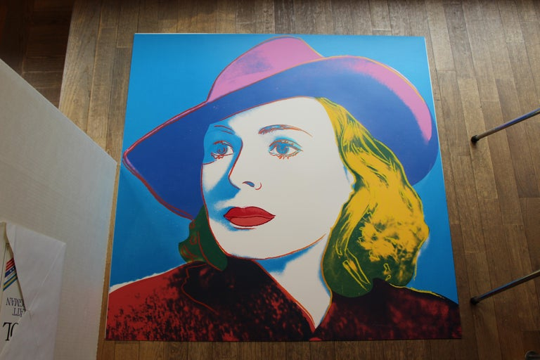 Ingrid Bergman Portfolio (FS II.312-FS II.314) - Blue Portrait Print by Andy Warhol