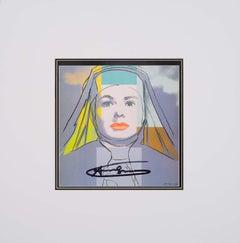 Ingrid Bergman The Nun - original modern Warhol lithograph pop art signed