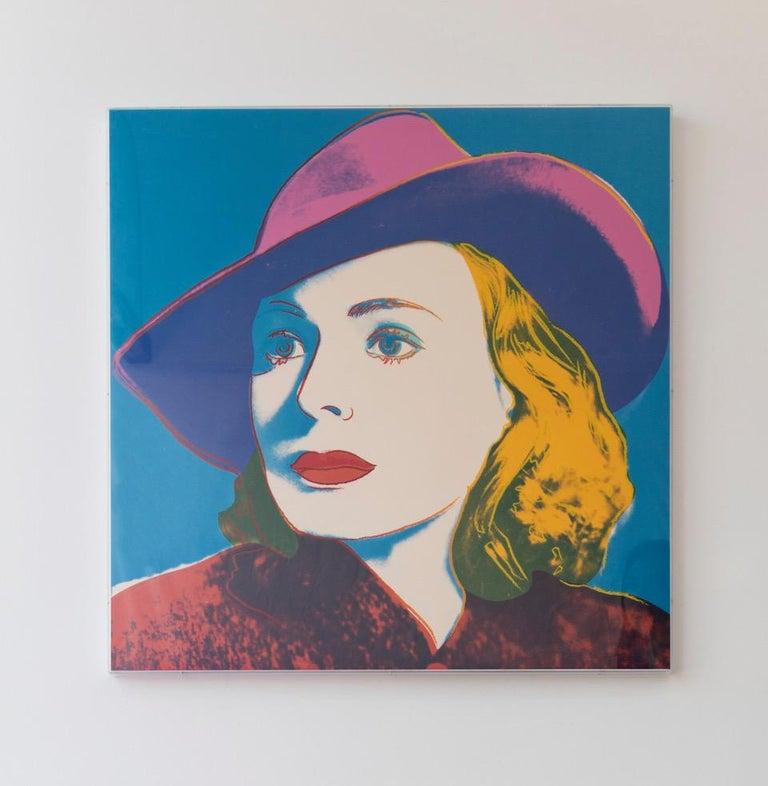Ingrid Bergman With Hat (FS II.315) - Pop Art Print by Andy Warhol