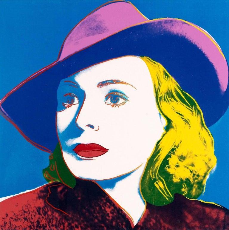 Ingrid Bergman With Hat (FS II.315) - Print by Andy Warhol