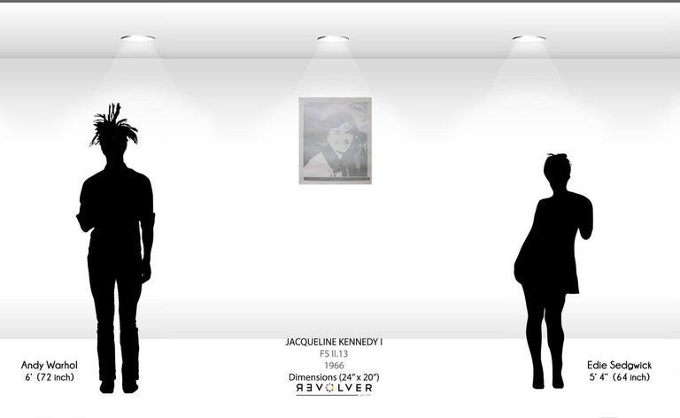 Jacqueline Kennedy I (Jackie I) (FS II.13) - Gray Portrait Print by Andy Warhol