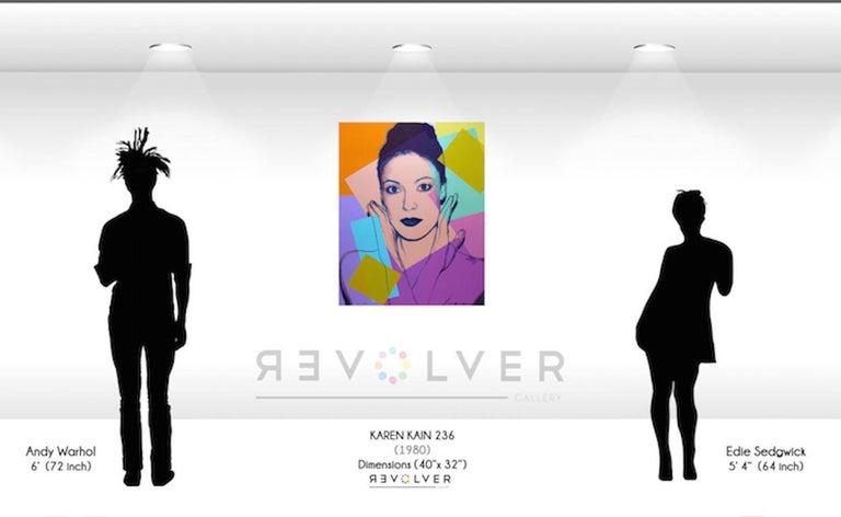 Karen Kain (FS II.236) - Brown Portrait Print by Andy Warhol