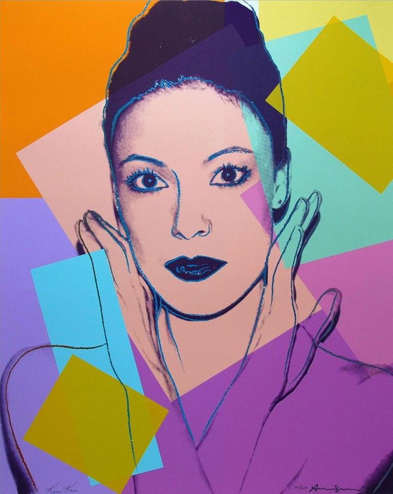 Andy Warhol Portrait Print - Karen Kain (FS II.236)