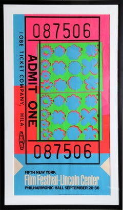 Lincoln Center Ticket (FS.II.19), Screenprint by Andy Warhol 1967