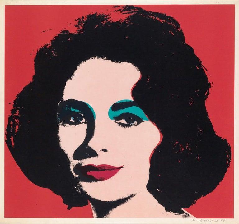 Andy Warhol Portrait Print - Liz (FS II.7)