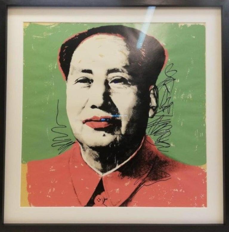 Andy Warhol Portrait Print - Mao FS II.95