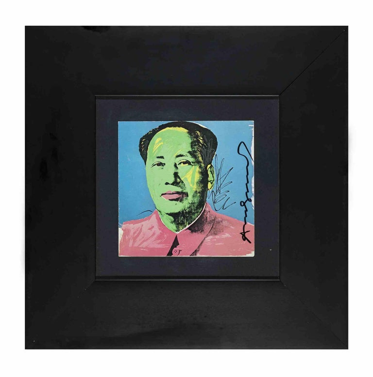 Mao Tse-Tung - Vintage Offset and Silkscreen Hand-Signed by Andy Warhol - 1972 For Sale 1