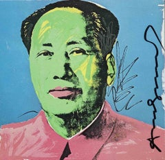 Mao Tse-Tung - Vintage Offset and Silkscreen Hand-Signed by Andy Warhol - 1972