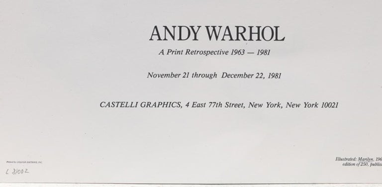 Marilyn, Castelli Graphics Invitation For Sale 1