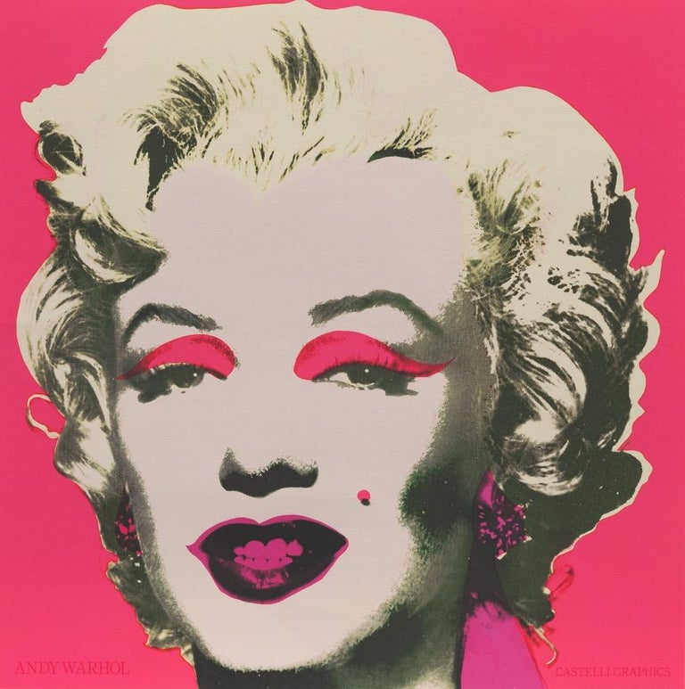 (after) Andy Warhol Portrait Print - Marilyn, Castelli Graphics Invitation