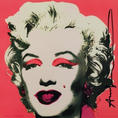 Marilyn Invitation - Original Silkscreen Hand Signed by Andy Warhol - 1981