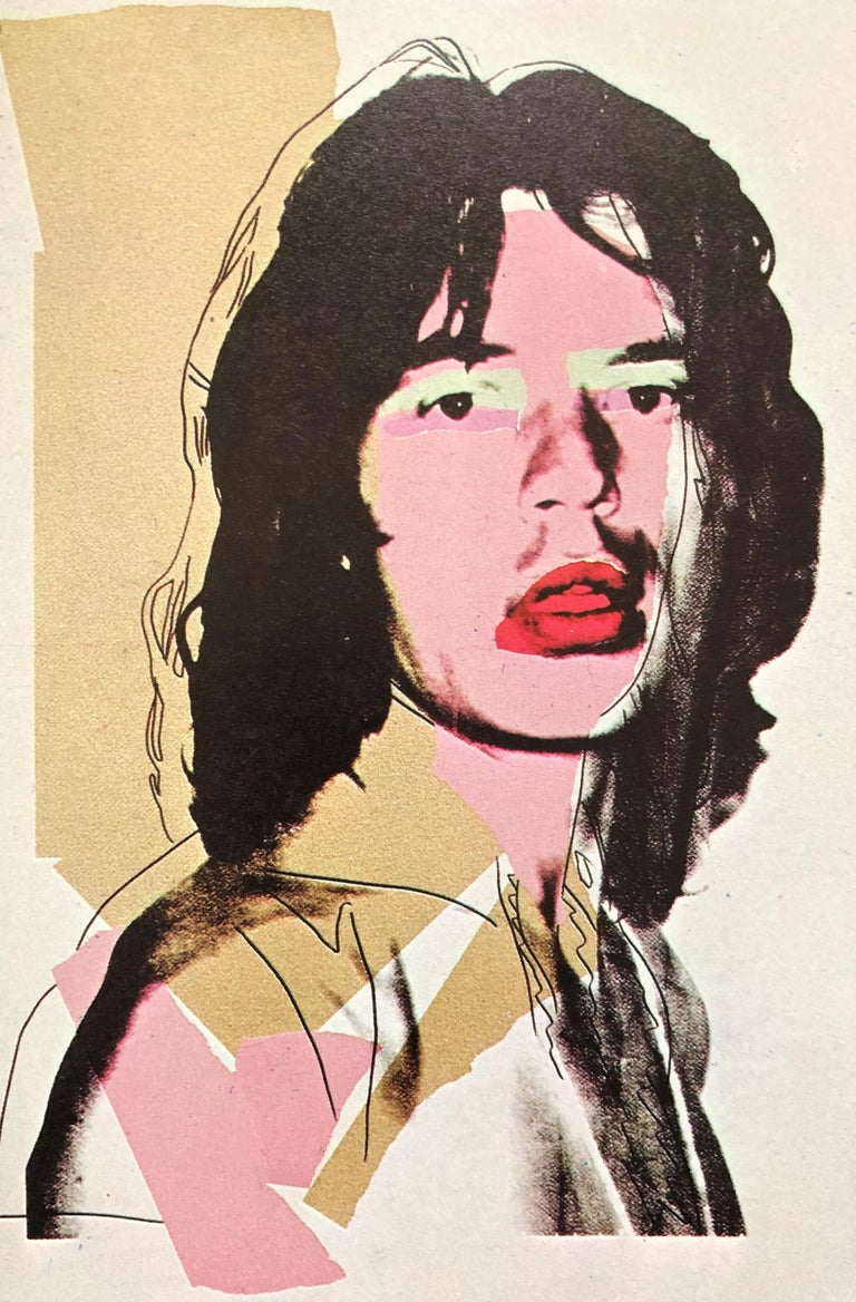 Mick Jagger 1975, Announcement Card, musician, pop art, portfolio images, prints For Sale 6