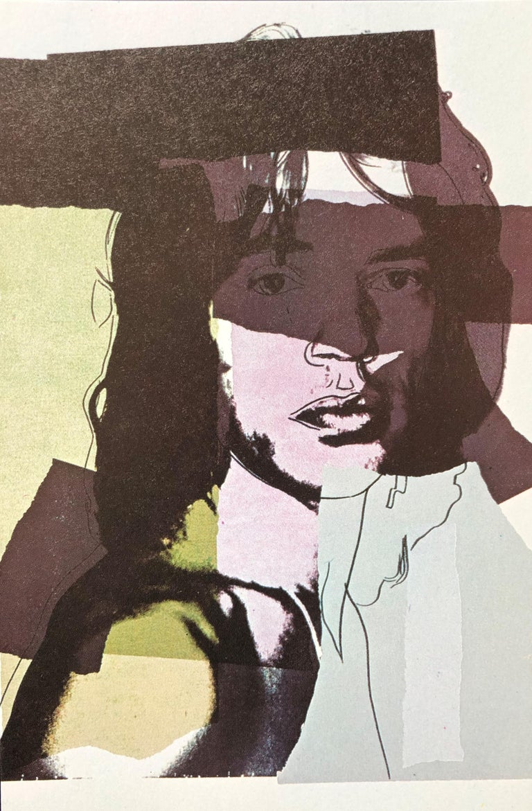 Mick Jagger 1975, Announcement Card, musician, pop art, portfolio images, prints For Sale 7