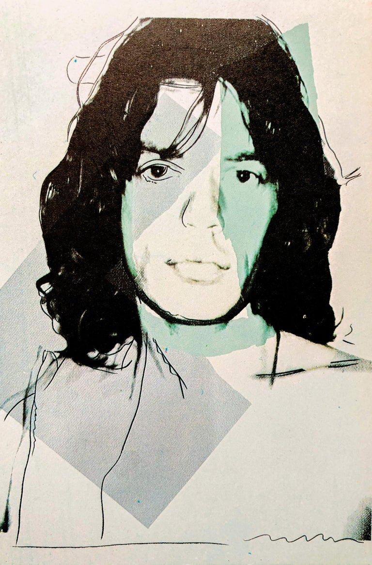 Mick Jagger 1975, Announcement Card, musician, pop art, portfolio images, prints For Sale 2