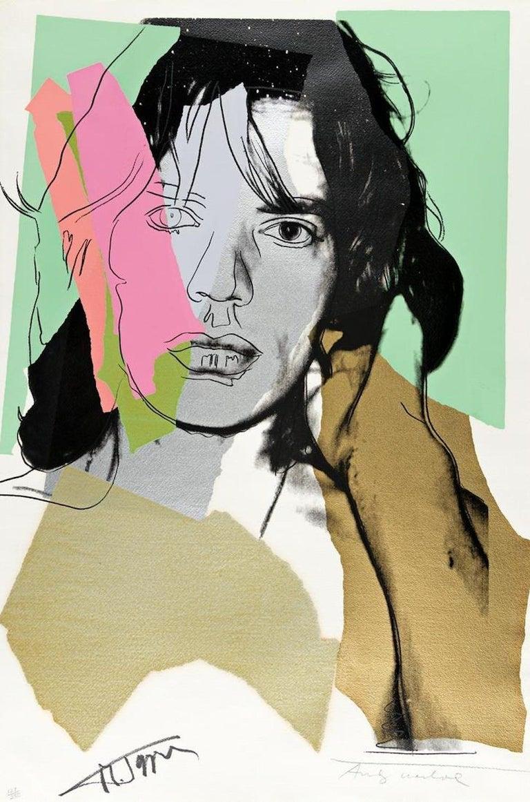 Andy Warhol Figurative Print - Mick Jagger FS 11.140