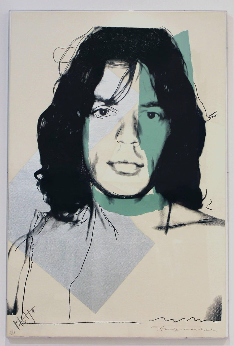 Mick Jagger (FS II.138) - Pop Art Print by Andy Warhol