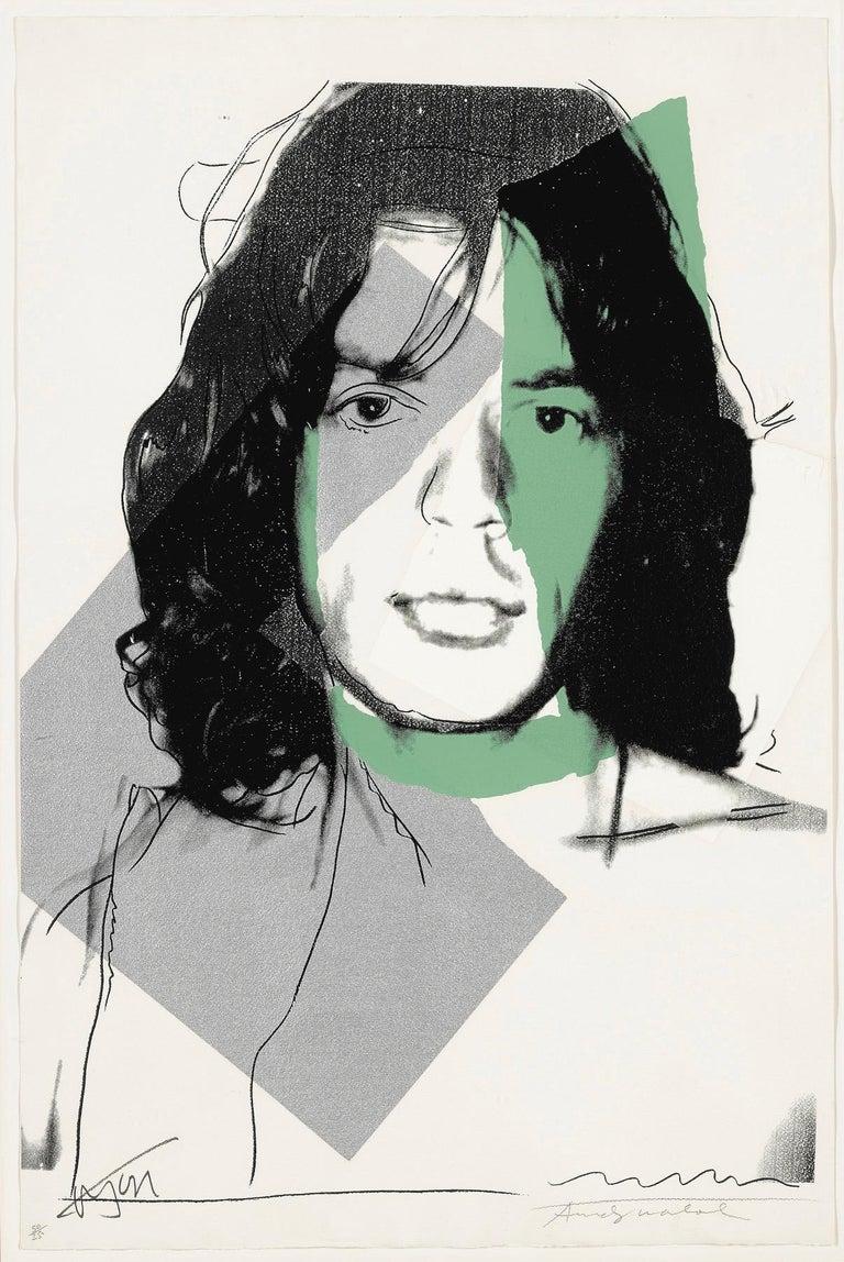 Andy Warhol Portrait Print - Mick Jagger F&S II.138