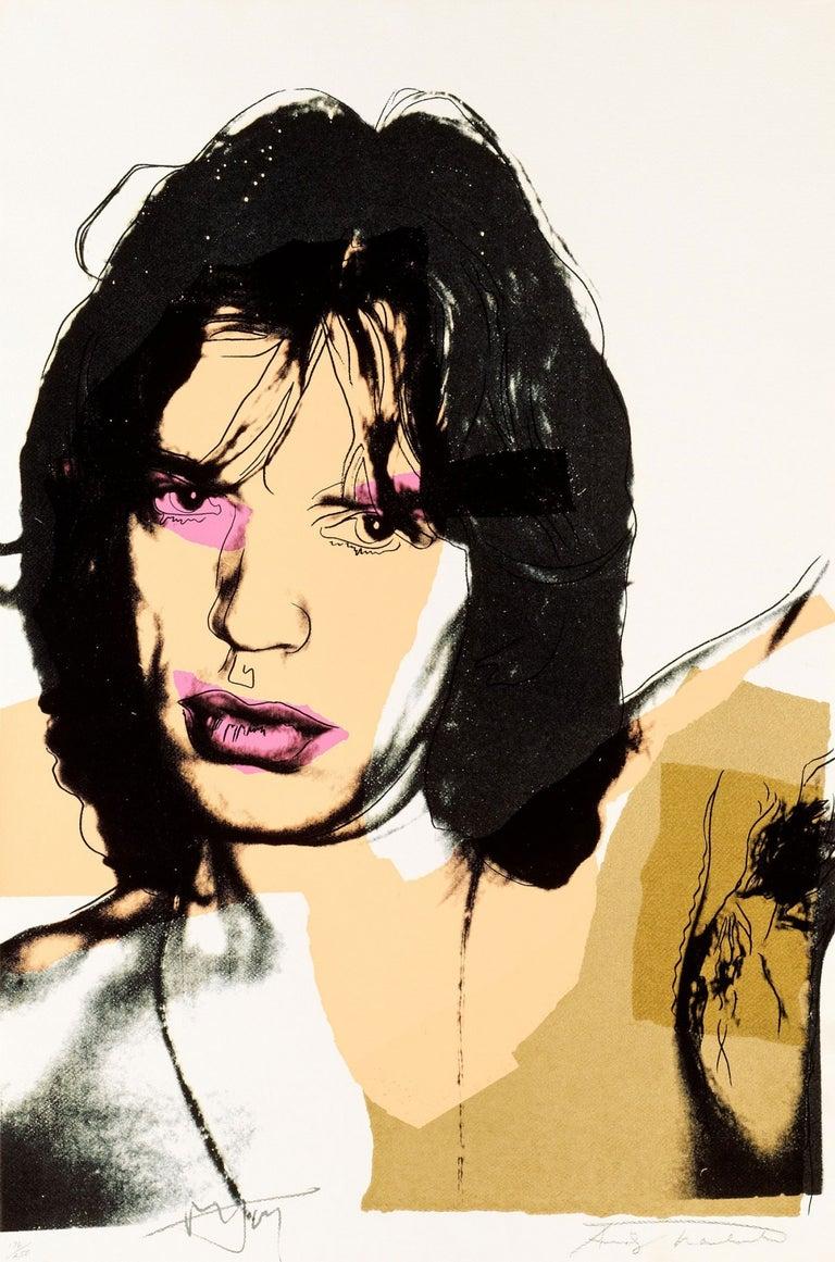 Andy Warhol Portrait Print - Mick Jagger (FS II.141)