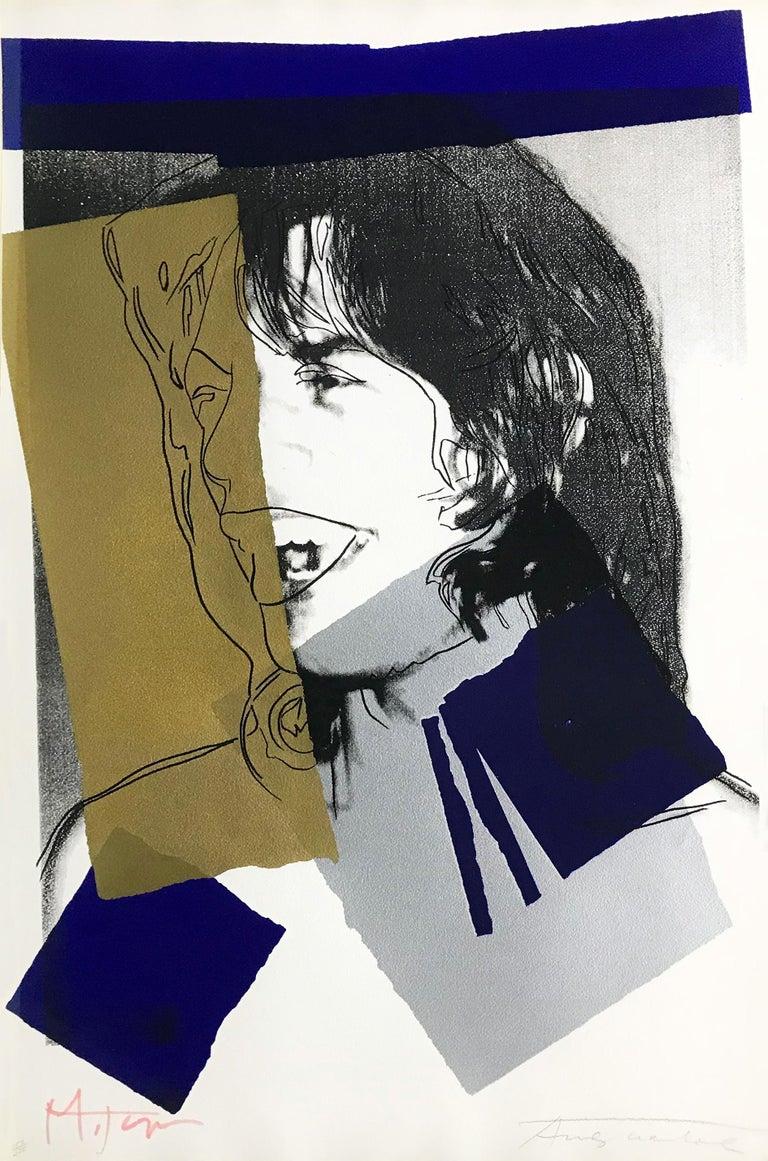 MICK JAGGER FS II.142 - Print by Andy Warhol