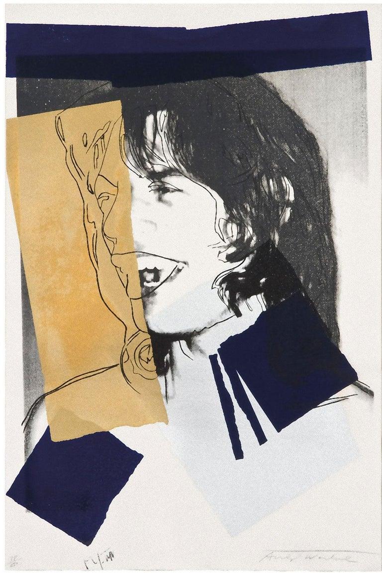 Mick Jagger (FS II.142) - Print by Andy Warhol