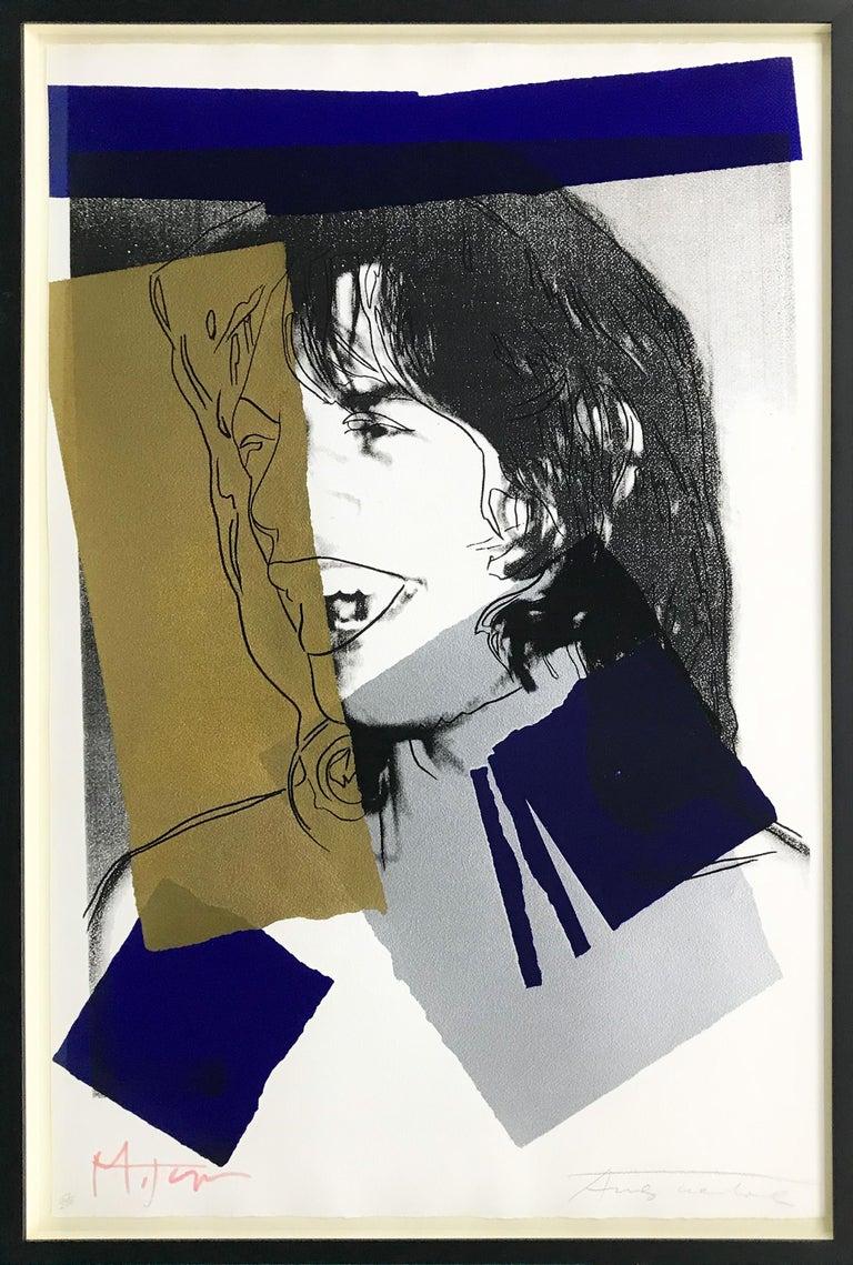 Andy Warhol Portrait Print - MICK JAGGER FS II.142