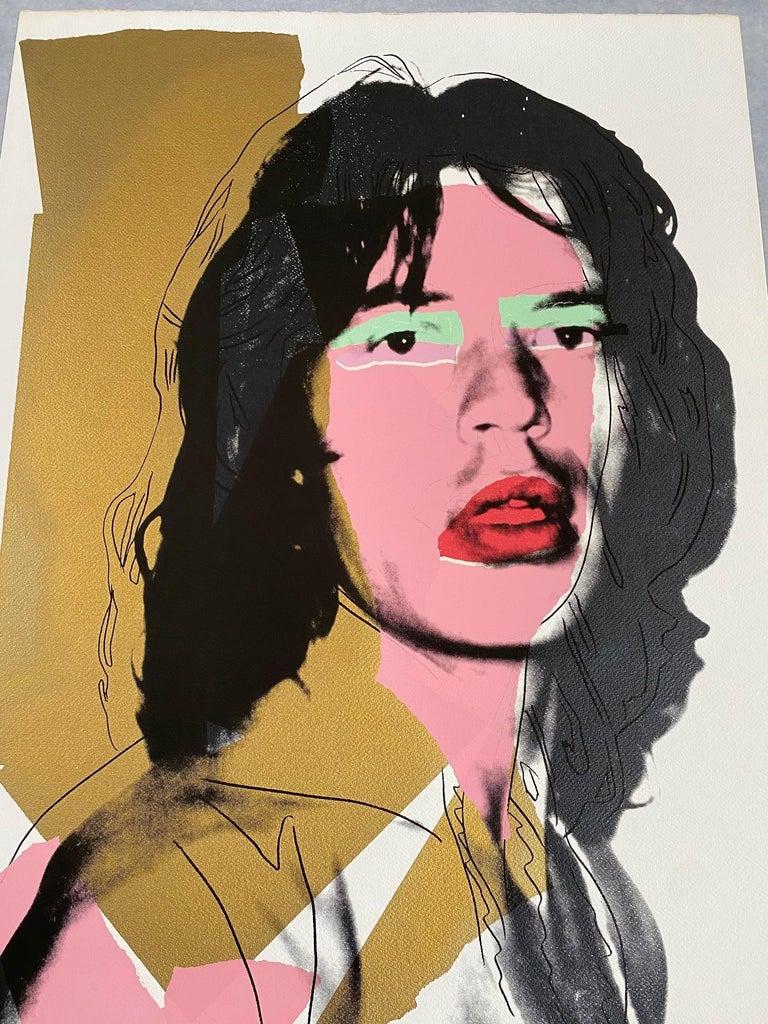 Mick Jagger F&S II.143 - Print by Andy Warhol